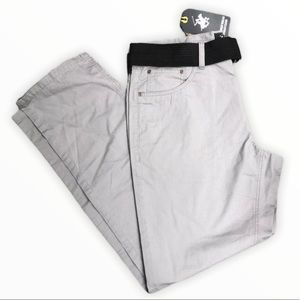NWT BEVERLY HILLS POLO CLUB Men's pants with belt